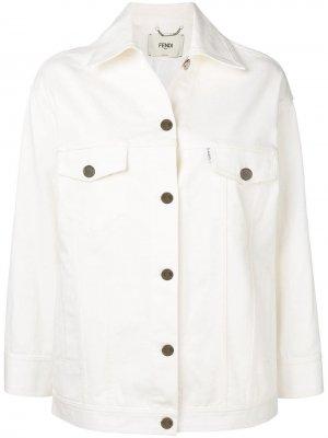 Джинсовая куртка с логотипом Fendi