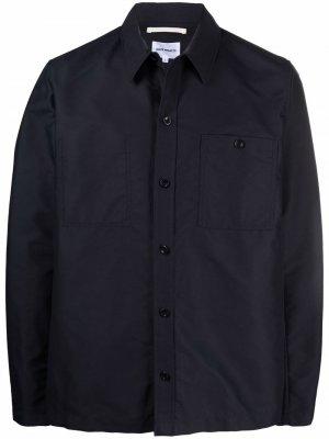 Куртка-рубашка Arnold Econyl Norse Projects. Цвет: синий