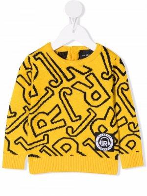 All-over logo print sweatshirt John Richmond Junior. Цвет: желтый