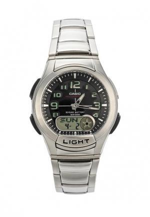 Часы Casio Collection AQ-180WD-1B. Цвет: серебряный