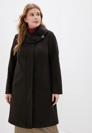 Пальто Karolina. Цвет: коричневый