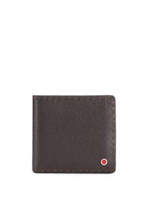 Классический бумажник Kiton. Цвет: коричневый