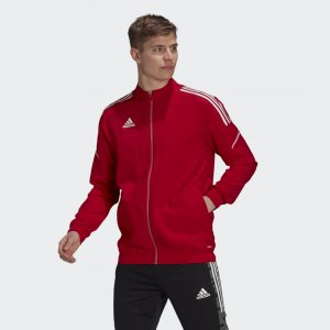 Парадная куртка Condivo 21 Primeblue Performance adidas. Цвет: красный