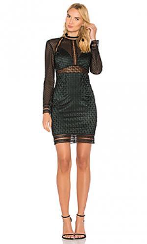 Кружевное платье bey Bardot. Цвет: зеленый