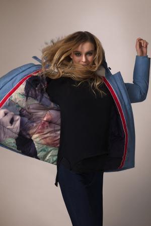 Куртка Just Valeri. Цвет: голубой