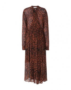 Длинное платье CALVIN KLEIN. Цвет: какао