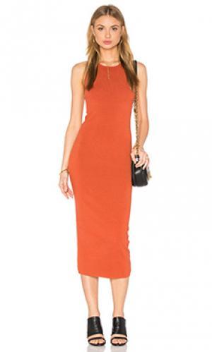 Платье marc A.L.C.. Цвет: тёмно-оранжевый