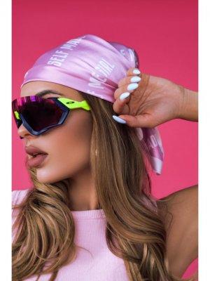 Платок SELF MADE GIRL Black Star Wear. Цвет: розовый