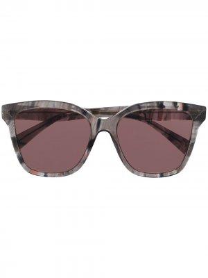 Солнцезащитные очки в квадратной оправе Yohji Yamamoto. Цвет: красный