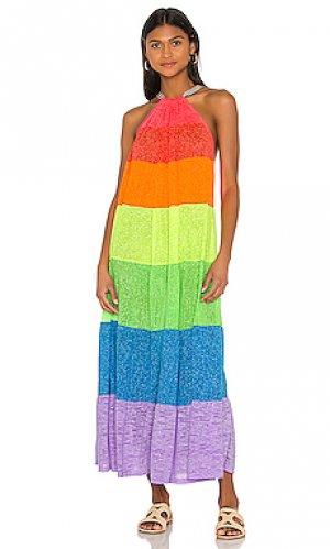 Макси платье popsicle Pitusa. Цвет: красный