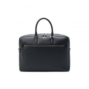 Кожаная дорожная сумка Serapian. Цвет: синий