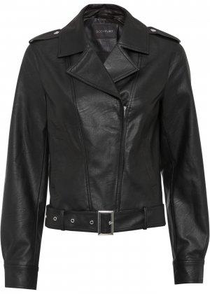 Куртка косуха bonprix. Цвет: черный