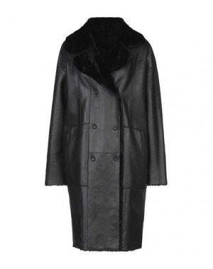 Легкое пальто DROMe. Цвет: черный