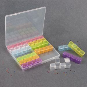 Контейнер для декора, 14 блоков, 4 ячейки, 21 × 17,5 2,7 см, цвет разноцветный Queen fair