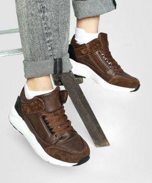 Ботинки для мальчиков O`Stin. Цвет: коричнево-чёрный