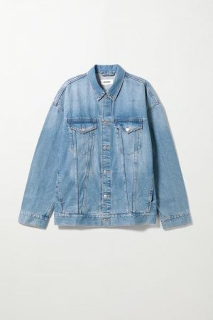 Джинсовая куртка свободного кроя Weekday. Цвет: синий
