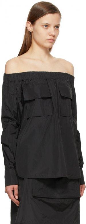 Black Silk Losanna Shirt Max Mara. Цвет: 003 black