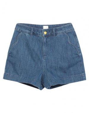 Джинсовые шорты DES PETITS HAUTS. Цвет: синий