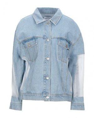 Джинсовая верхняя одежда AU JOUR LE. Цвет: синий