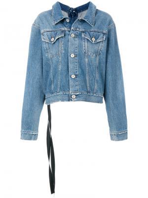 Классическая джинсовая куртка Unravel Project. Цвет: синий