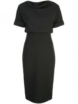 Платье-трапеция Badgley Mischka. Цвет: черный