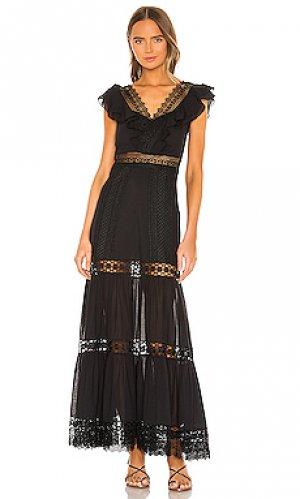 Макси платье aida Charo Ruiz Ibiza. Цвет: черный