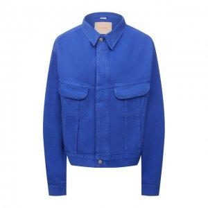 Джинсовая куртка Heron Preston for Calvin Klein. Цвет: синий