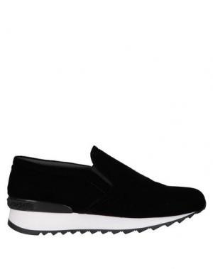 Низкие кеды и кроссовки CASADEI. Цвет: черный