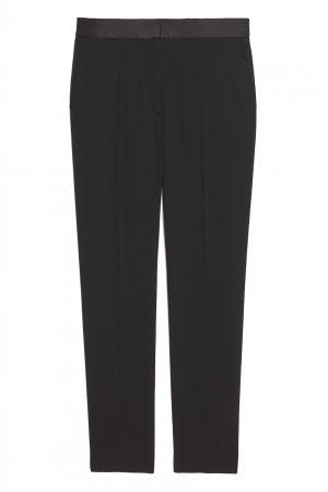 Черные укороченные брюки со стрелками Sandro. Цвет: черный