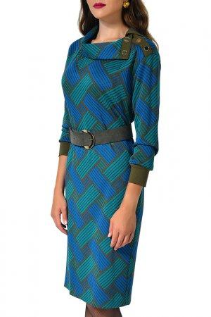 Платье Caterina Leman. Цвет: бирюзовый, хаки (17/26)