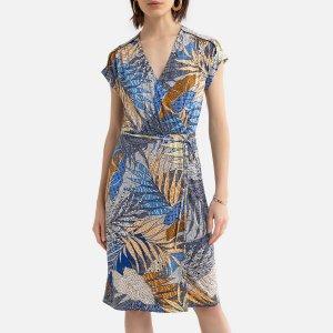 Платье LaRedoute. Цвет: каштановый