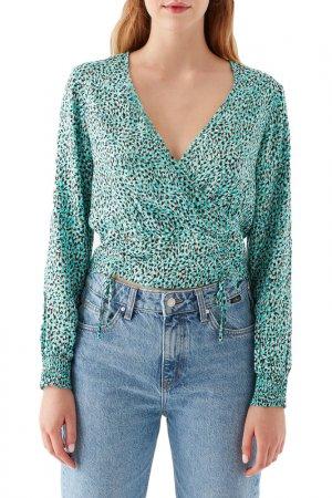 Блузка Blouse Mavi. Цвет: зеленый