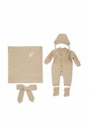Комплект детский Amarobaby на выписку Pure Love New person. Цвет: коричневый