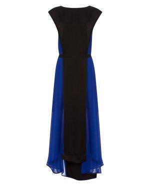 Платье 28AY820/7 44 черный+синий ILARIA NISTRI. Цвет: черный+синий