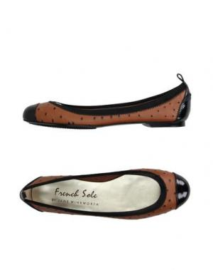 Балетки FRENCH SOLE. Цвет: коричневый