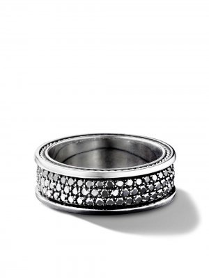 Streamline three row pavé diamond band David Yurman. Цвет: ssabd