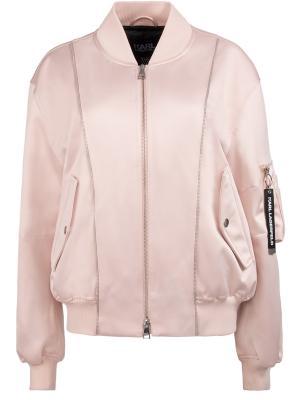 Куртка-бомбер Karl Lagerfeld. Цвет: розовый