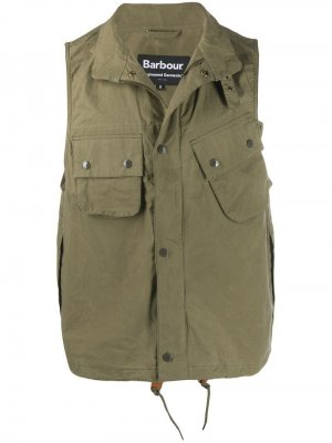 Жилет Arthur Barbour X Engineered Garments. Цвет: зеленый