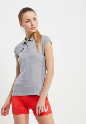 Поло ASICS WOMAN POLO. Цвет: серый