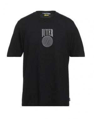 Футболка IUTER. Цвет: черный