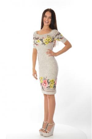 Платье Angelo Marani. Цвет: разноцветный