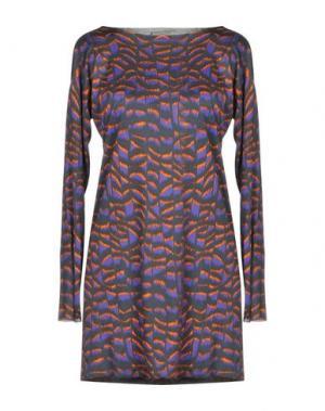 Короткое платье CUT25 by YIGAL AZROUËL. Цвет: стальной серый