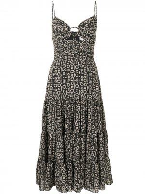Платье Jenay с принтом Alexis. Цвет: черный