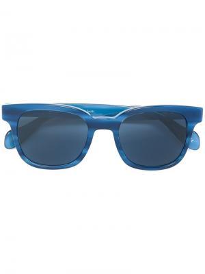 Солнцезащитные очки Denning Paul Smith. Цвет: синий