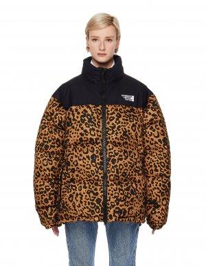 Леопардовый стеганый пуховик Vetements
