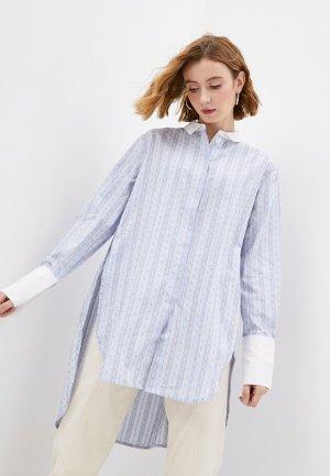 Рубашка By Malene Birger. Цвет: голубой