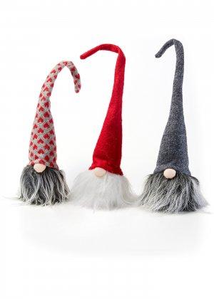 Декоративная подвеска Дед Мороз (3 шт.) bonprix. Цвет: серый