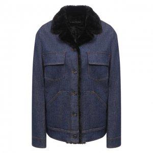 Джинсовая куртка Tom Ford. Цвет: синий