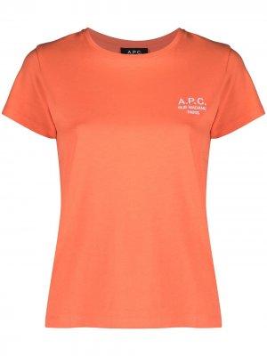Футболка Denise с логотипом A.P.C.. Цвет: оранжевый