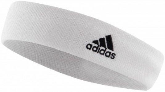 Повязка adidas, размер 58 Adidas. Цвет: белый